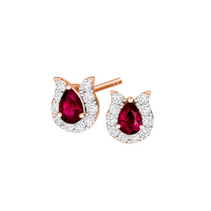 DewDrop Rhodolite Earrings