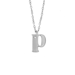 Letter P Diamond Necklace