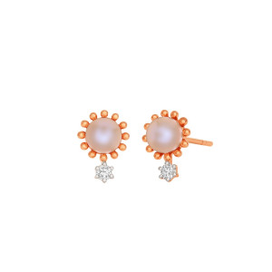 Rose Pearl Earrings
