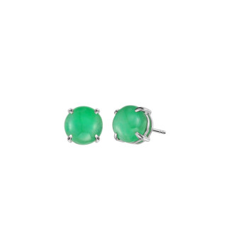 Jade Round Earrings