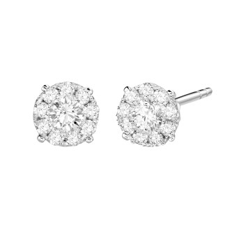 0.30 CT Face Diamond Earrings