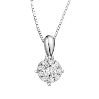 0.50CT Face Diamond Pendant
