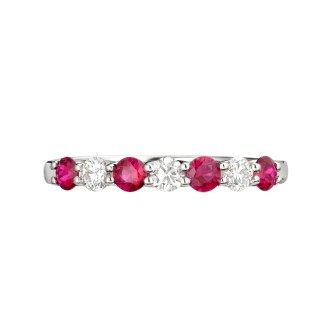 Half Eternity Ruby Ring