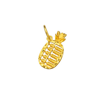 916 Gold Pineapple Abacus Pendant