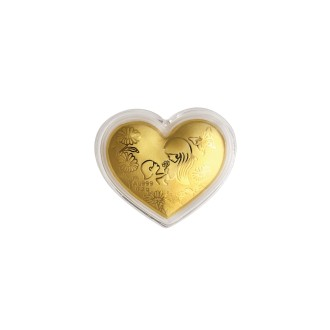 999 Heart Gold Coin