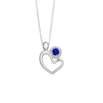 Sapphire Pendant with free chain