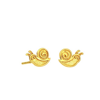 916 Gold Snail Earrings