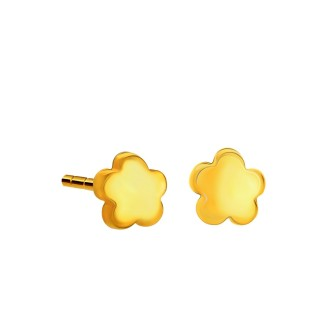 916 Gold Flower Earrings