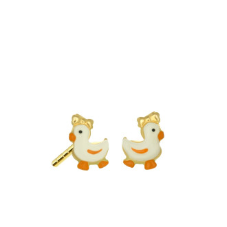 916 Gold Duck Earrings