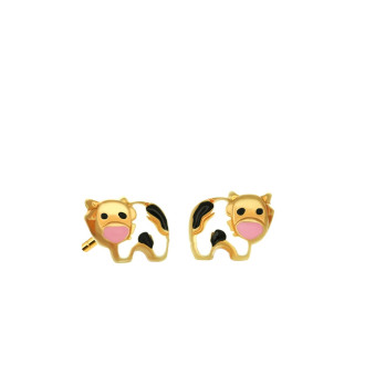 916 Gold Cow Earrings