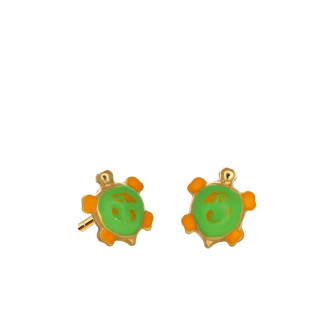 916 Gold Tortoise Earrings
