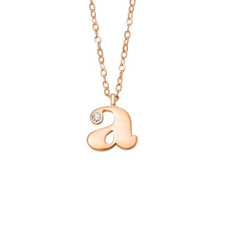 Letter A Diamond Necklace