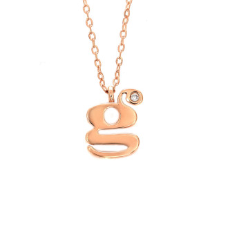 Letter G Diamond Necklace