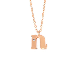 Letter N Diamond Necklace