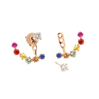 Fancy Sapphire Earrings