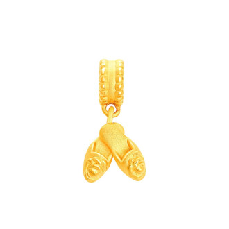 Bicentennial Commemorative 999 Gold Beaded Slippers Charm (Exclusively available at Goldheart)