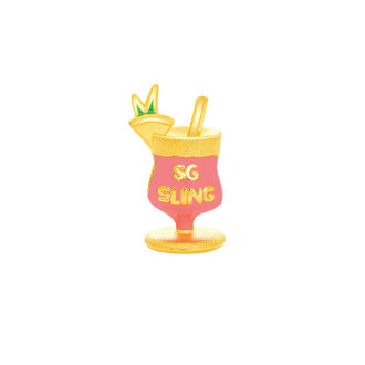 999 Gold Singapore Sling Charm (Exclusively available at Goldheart)