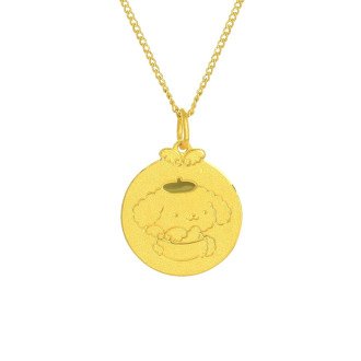 999 Gold Pompompurin Baby Pendant