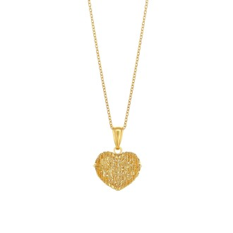 916 Gold Heart Pendant