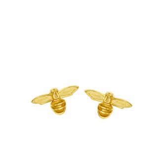 916 Gold Bee Earrings