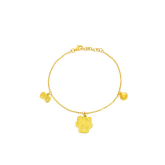 999 Gold Hello Kitty Baby Anklet