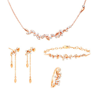 Spring Blooms Diamond Si Dian Jin Wedding Set