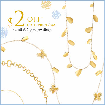 $2 off 916 gold jewellery